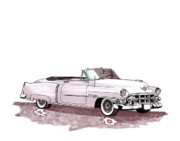 Cadillac Painting Posters - 1950 Cadillac El Dorado Poster by Jack Pumphrey