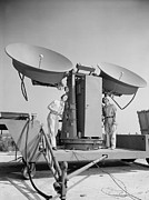 20st Century Photos - 1950 Doppler Radar Antenna Has Metallic by Everett