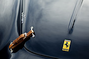 Best Car Photography Prints - 1950 Ferrari Hood Emblem Print by Jill Reger
