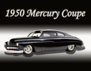Chrome Prints - 1950 Mercury Coupe Print by Peter Piatt