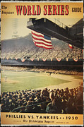 1950 Phillies Vs Yankees World Series Guide Print by Bill Cannon