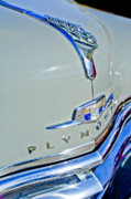Historic Vehicle Photo Prints - 1950 Plymouth Coupe Hood Ornament Print by Jill Reger
