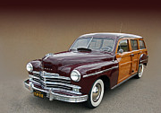 Photomanipulation Photo Prints - 1950 Plymouth Special Deluxe Woody  Print by Bill Dutting