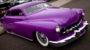 Classic Hood Ornaments Posters - 1950 Purple Mercury Poster by David Patterson