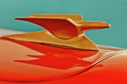 Hoodies Framed Prints - 1951 Crosley Hot Shot Hood Ornament 2 Framed Print by Jill Reger