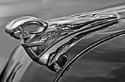 Car Abstracts Photo Posters - 1951 Dodge Pilot House Pickup Hood Ornament 2 Poster by Jill Reger
