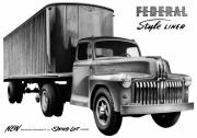 Truck Drawings Framed Prints - 1951 Federal Style Liner Framed Print by Lyle Brown