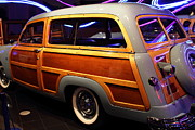 Transportation Glass Acrylic Prints - 1951 Ford Country Squire - 7D17485 Acrylic Print by Wingsdomain Art and Photography