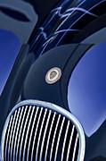 1951 Jaguar Proteus C-type Grille Emblem 4 Print by Jill Reger
