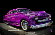Autos Digital Art Prints - 1951 Mercury Coup Print by Byron Fli Walker