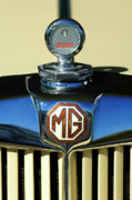 Hoodie Framed Prints - 1951 MG TD Messko Thermometer Hood Ornament Framed Print by Jill Reger