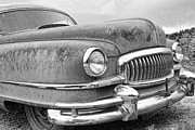 Ambassador Prints - 1951 Nash Ambassador Front End BW Print by James Bo Insogna
