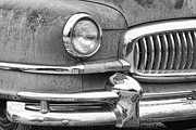 Ambassador Prints - 1951 Nash Ambassador Front End Closeup BW Print by James Bo Insogna