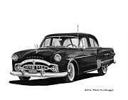 Pen And Ink Framed Prints Framed Prints - 1951 Packard Patrician 400 Framed Print by Jack Pumphrey
