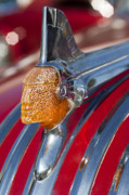 Automobile Abstract Photography Prints - 1951 Pontiac Chief Hood Ornament Print by Jill Reger