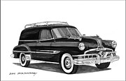 80s Drawings Framed Prints - 1951 Pontiac Panel Delivery Framed Print by Jack Pumphrey