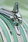 1951 Prints - 1951 Pontiac Streamliner Hood Ornament 3 Print by Jill Reger