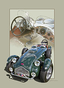 Out Of Bounds Acrylic Prints - 1952 Allard J2X Acrylic Print by Roger Beltz