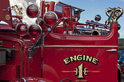 Fire Trucks Prints - 1952 L Model Mack Pumper Fire Truck 2 Print by Jill Reger