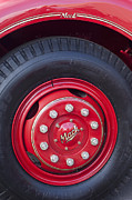 Fire Trucks Prints - 1952 L Model Mack Pumper Fire Truck Wheel 2 Print by Jill Reger