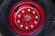 Truck Art - 1952 L Model Mack Pumper Fire Truck Wheel by Jill Reger