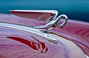Historic Vehicle Prints - 1952 Packard 400 Hood Ornament Print by Jill Reger