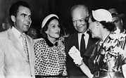 First Lady Acrylic Prints - 1952 Presidential Campaign. From Left Acrylic Print by Everett