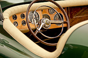 Sportster Photos - 1952 Sterling Gladwin Maverick Sportster Steering Wheel by Jill Reger