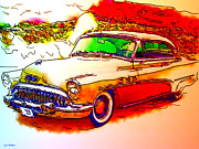Old Cars Mixed Media - 1953 Buick by Tyler Robbins