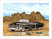 Cadillac Painting Posters - 1953 Cadillac ElDorado Biarritz Poster by Jack Pumphrey