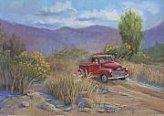 Pick Up Pastels Framed Prints - 1953 Chevy Truck Framed Print by Heather Coen
