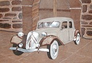 Car Reliefs - 1953 Citroen by Alok Mital