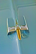 Car Mascot Prints - 1953 Lincoln Capri Hood Ornament Print by Jill Reger