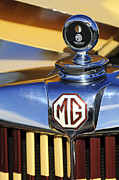 Moto Meter Prints - 1953 MG TD Hood Ornament Print by Jill Reger