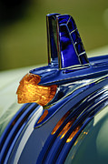 Historic Vehicle Photo Prints - 1953 Pontiac Hood Ornament 3 Print by Jill Reger