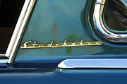 Auto Photo Prints - 1953 Studebaker Champion Starliner Abstract Print by Jill Reger
