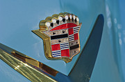Cadillac Prints - 1954 Cadillac Coupe deVille Emblem Print by Jill Reger