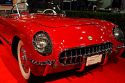 Transportation Acrylic Prints - 1954 Chevrolet Corvette . Red . 7D9157 Acrylic Print by Wingsdomain Art and Photography