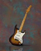 Clapton Art - 1954 Fender Stratocaster Guitar by Bradford Adams