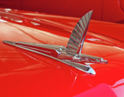 Historic Vehicle Photo Prints - 1954 Ford Cresline Sunliner Hood Ornament 2 Print by Jill Reger