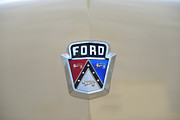 Ford Customline Posters - 1954 Ford Customline Emblem Poster by Paul Ward