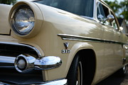 V8 Car Photos - 1954 Ford Customline Front End by Paul Ward