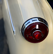 V8 Car Photos - 1954 Ford Customline Tail Light by Paul Ward