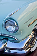 Lincoln Photos Prints - 1954 Lincoln Capri Headlight Print by Jill Reger