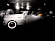 Antique Automobiles Digital Art - 1954 Lincoln Convertible  by Steven  Digman