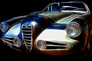 Alfa Romeo Photos - 1955 Alfa Romeo 1900 SS Zagato by Wingsdomain Art and Photography