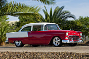 Classic Car Photography Posters - 1955 Chevrolet 210 Poster by Jill Reger