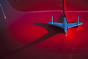 Bel Air Prints - 1955 Chevrolet Bel Air Hood Ornament Print by Carol Leigh