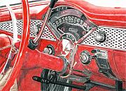 Photorealism Drawings - 1955 Chevrolet Bel Air by Rob De Vries