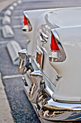 Tail Prints - 1955 Chevrolet Belair Tail Lights Print by Jill Reger